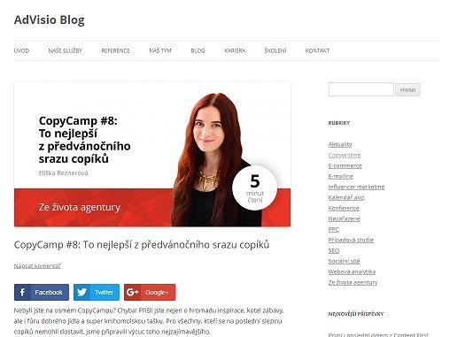 Reference AdVisio - Copywriting Ostrava - Eliška Reznerová