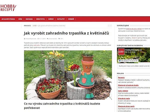 Reference Hobbyrecepty.cz - Copywriting Ostrava - Copywriter Eliška Reznerová