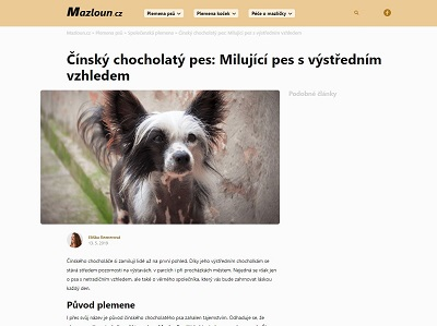 Reference Mazloun.cz - Copywriting Ostrava - Eliška Reznerová