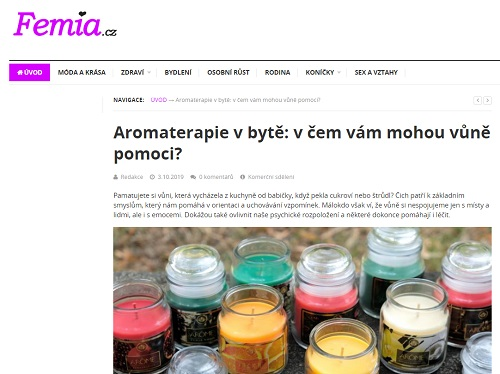 Reference Femia - Copywriting Ostrava - Copywriter Eliška Reznerová